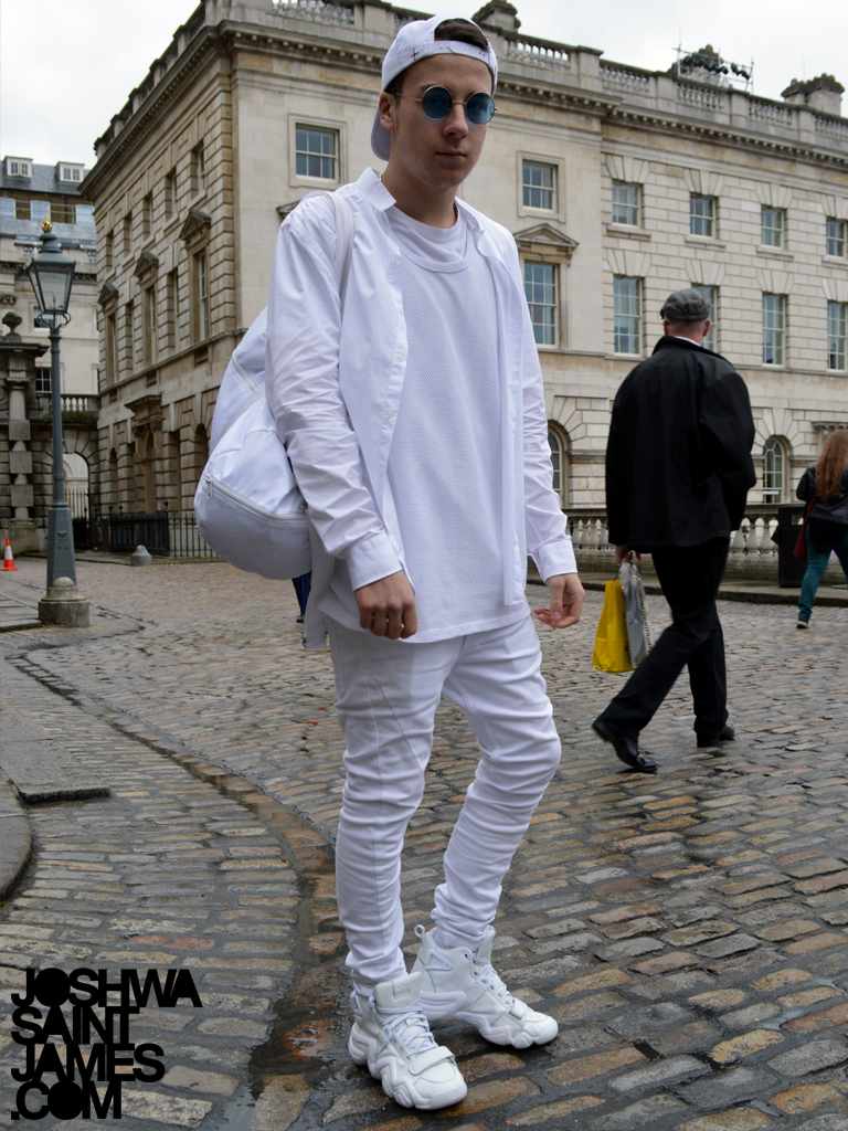 London Fashion Week Street Style Joshwa Saint James