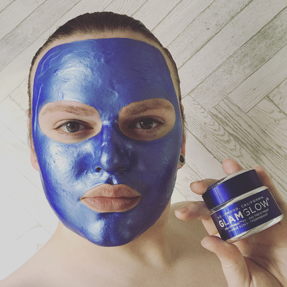 Joshwa Saint James wear Glamglow Sonic Blue Gravitymud