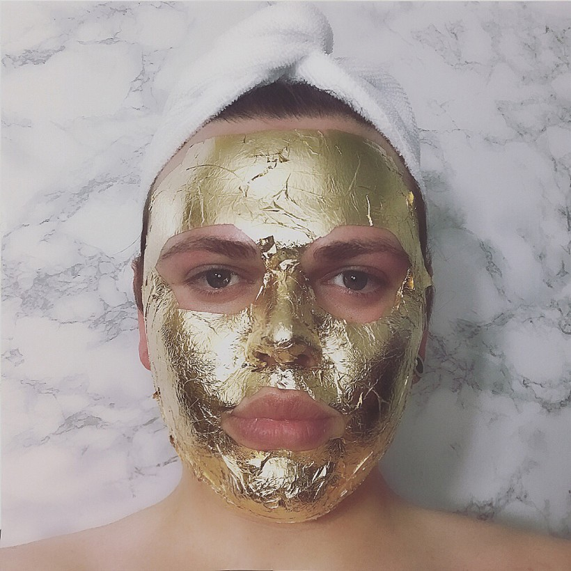 24 K Gold Facial DIY
